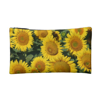 Field of Yellow Sunflowers Small Cosmetic Bag