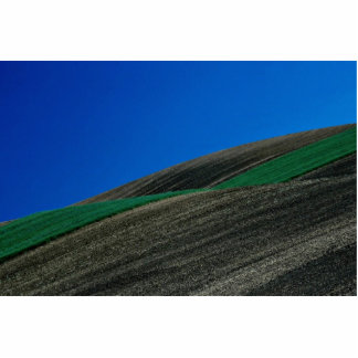 Field patterns in hill slope photo cut outs