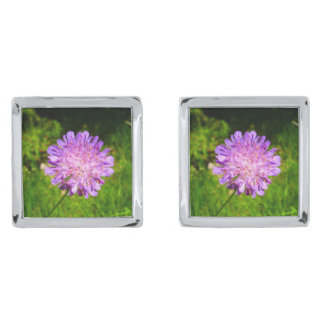 Field Scabious Cufflinks Silver Finish Cuff Links