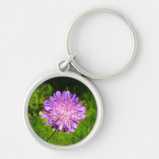 Field Scabious Key Ring Silver-Colored Round Key Ring