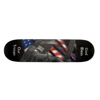 Field_Soldier_Flag, God Bless, Our Troops Custom Skateboard