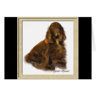 Field Spaniel Art Gifts Card