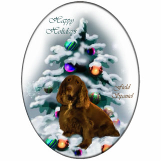 Field Spaniel Christmas Gifts Ornament Photo Sculpture Decoration
