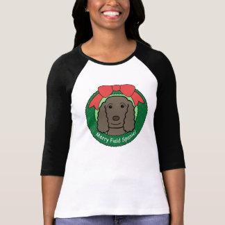 Field Spaniel Christmas T-Shirt