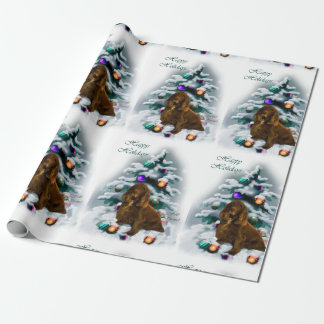 Field Spaniel Christmas Wrapping Paper