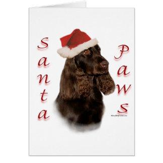 Field Spaniel Santa Paws Card