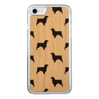 Field Spaniel Silhouettes Pattern Carved iPhone 8/7 Case