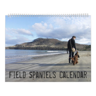 Field Spaniel Wall Calendar