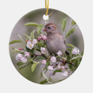 Field Sparrow Christmas Ornament