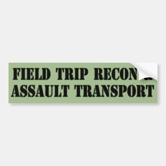 Field Trip Vehicle Bumper Sticker
