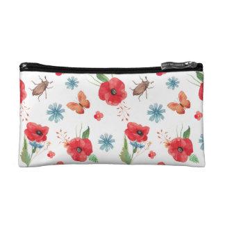 Field Wildflower Pattern Cosmetics Bags