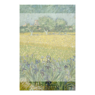Field with Flowers Near Arles by Vincent Van Gogh Full Color Flyer