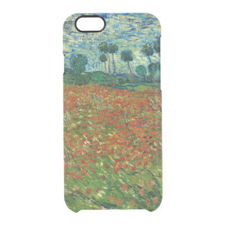 Field with Poppies by Van Gogh Fine Art Clear iPhone 6/6S Case