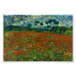 Field with Poppies by Van Gogh Fine Art Poster