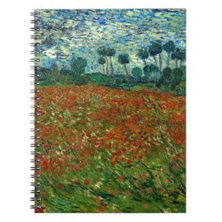 Field with Poppies by Van Gogh Fine Art Spiral Notebook