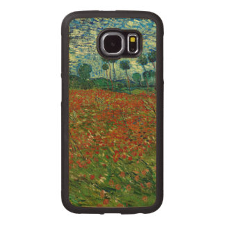 Field with Poppies by Van Gogh Fine Art Wood Phone Case