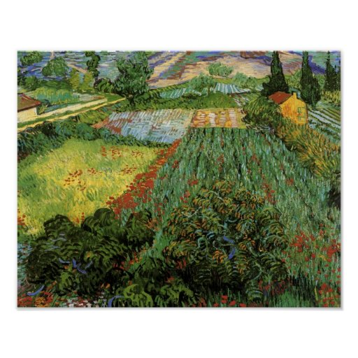 Field with Poppies Van Gogh Fine Art Poster