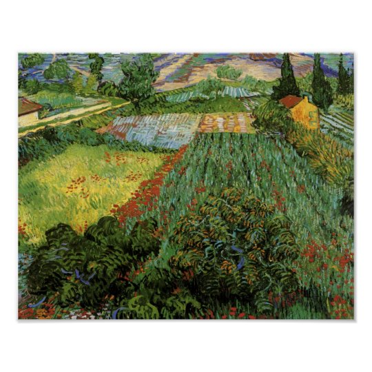 Field with Poppies Van Gogh Fine Art Poster