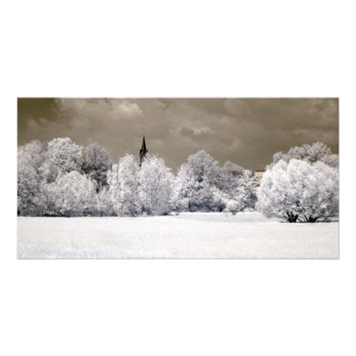 Fields Infrared Photography Personalized Photo Card