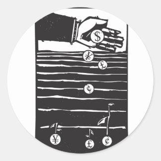 Fields of Investment Round Sticker