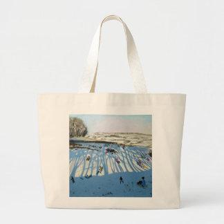 Fields of Shadows Monyash Derbyshire Large Tote Bag