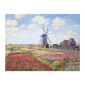 Fields of Tulip, by Claude Monet Gallery Wrap Canvas