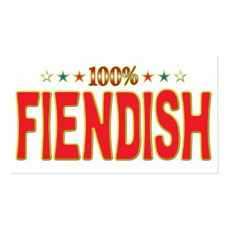 Fiendish Star Tag Pack Of Standard Business Cards