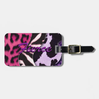 Fierce Animal Print Luggage Tag