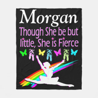 FIERCE BALLERINA PERSONALIZED FLEECE BLANKET