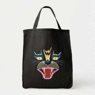 Fierce Black Cat Grocery Tote Grocery Tote Bag