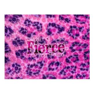 Fierce Cheetah Print Postcard