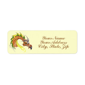 Fierce Dragon Return Address Label