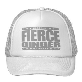 FIERCE GINGER - Fearless Red-Haired Pale Warrior Cap