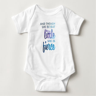 Fierce Girl Quote Baby Bodysuit