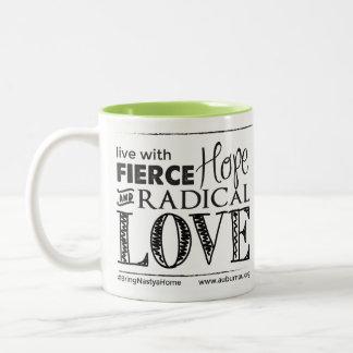 Fierce Hope & Radical Love - Drinkware Two-Tone Coffee Mug