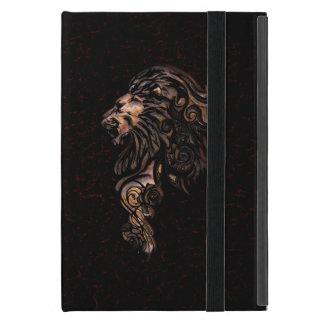 Fierce Lion Book Style Folio Case Covers For iPad Mini