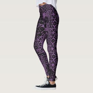 Fierce Momma Purple Colored Hot-Pants Leggings
