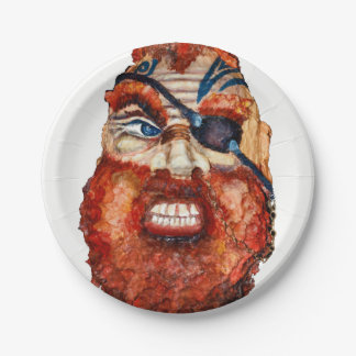 Fierce Scandinavian viking 7 Inch Paper Plate