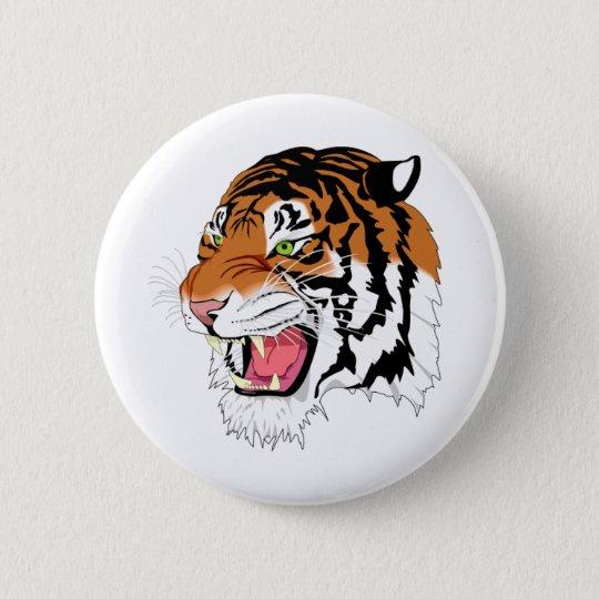 Fierce Tiger 6 Cm Round Badge