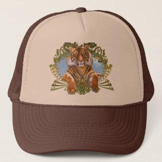 Fierce Tiger Crest Endangered Trucker Hat