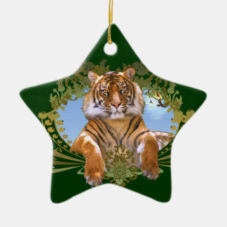 Fierce Tiger Rawr! Christmas Ornament
