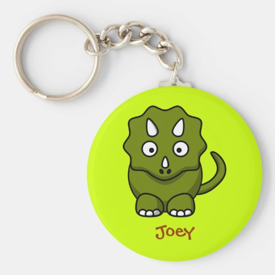 Fierce triceratops key ring