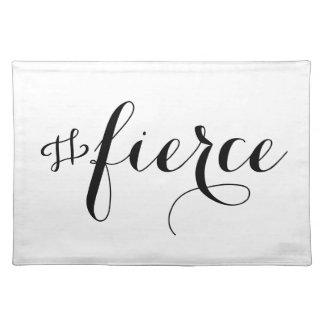 Fierce Typography Placemat