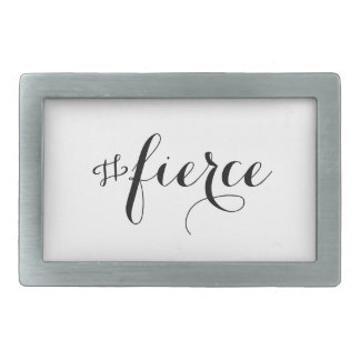Fierce Typography Rectangular Belt Buckle