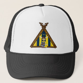 Fierce Viking and Tent Baseball Cap