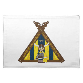 Fierce Vikings and Tent Placemat