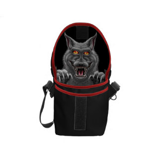 Fierce Werewolf Mini Messanger Bag Courier Bag