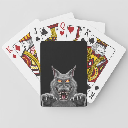 Fierce Werewolf Playing Cards