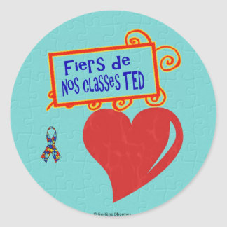 Fiers de nos classes TED - autocollants Round Sticker