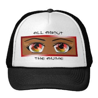 Fiery Anime Eyes Hat